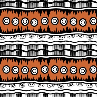 Stripes hand drawn tribal seamless pattern