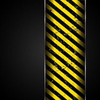 Stripes over metal background