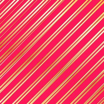 縞模様。金、赤の縞模様の背景。