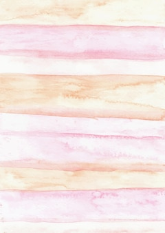 Stripes pink abstract watercolor texture background