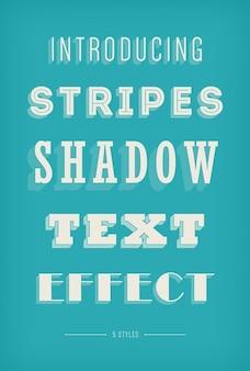 Полосами тени текстовый эффект