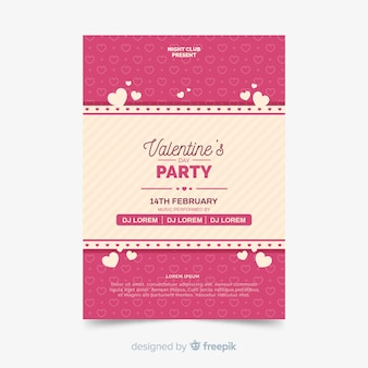 Stripes valentine party poster