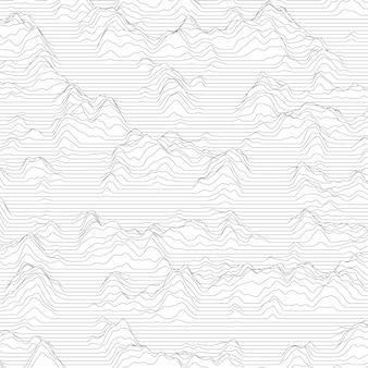Stripped background with wavy lines making mountains