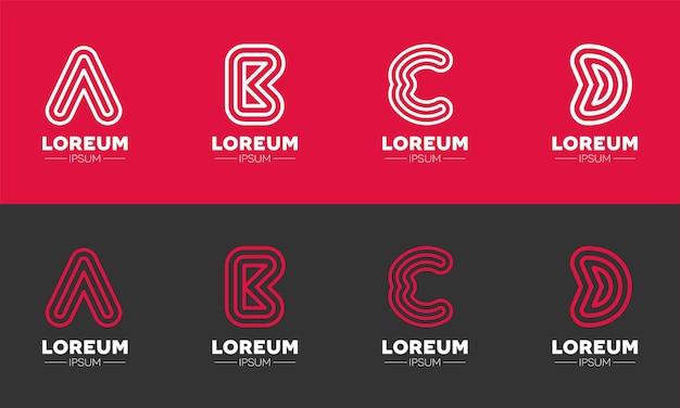 Stroke alphabets logos for startup companies
