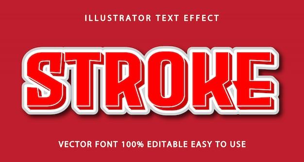 Stroke editable text effect