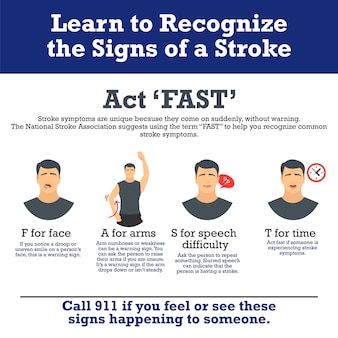 Stroke vector info graphic.