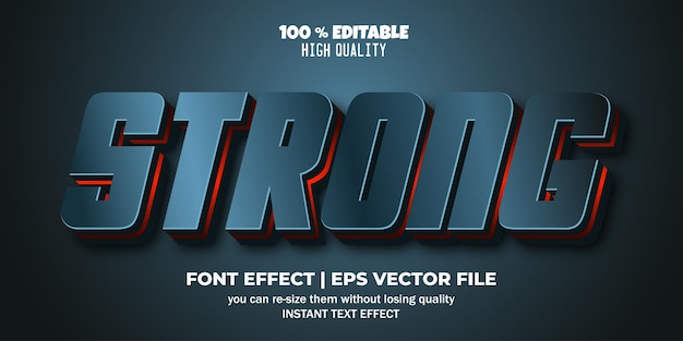강력한 3d 편집 가능한 텍스트 효과