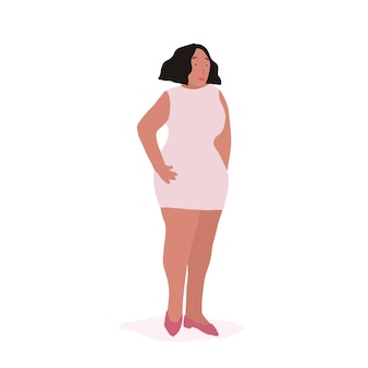 Strong african american woman full body vector