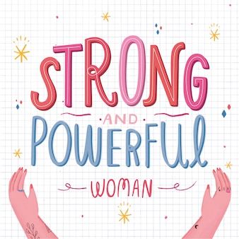 강력하고 강력한 여성