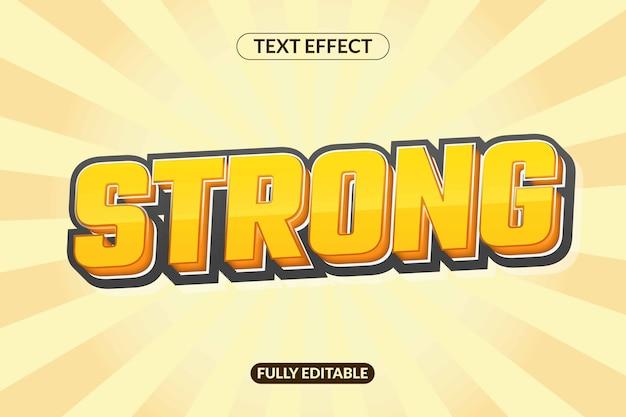 강력한 모양 효과 텍스트 글꼴 스타일