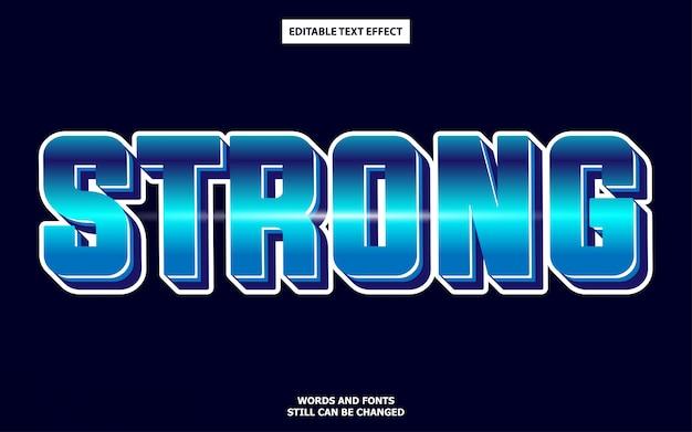 Сильный синий редактируемый текстовый эффект