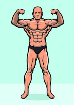 Strong bodybuilder full body version