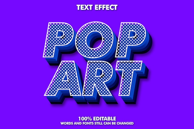 Strong bold 3d retro pop art text effect for old style
