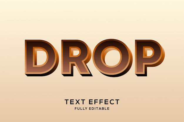 Strong bold chocolate text effect