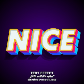 Strong bold and colorful 3d font effect