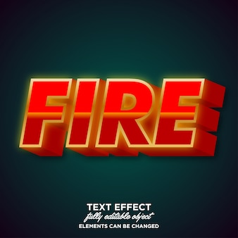 Strong bold flame font effect