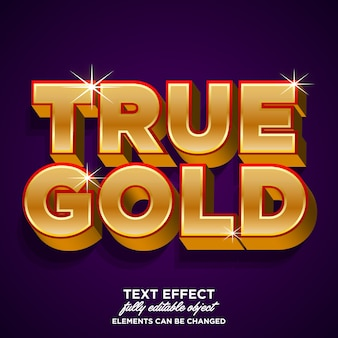 Strong bold luxury golden font effect