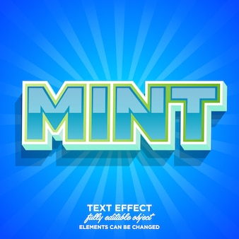 Strong bold mint font effect
