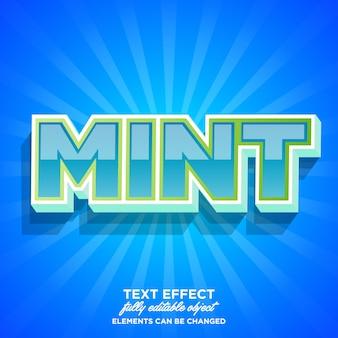 Strong bold mint font effect
