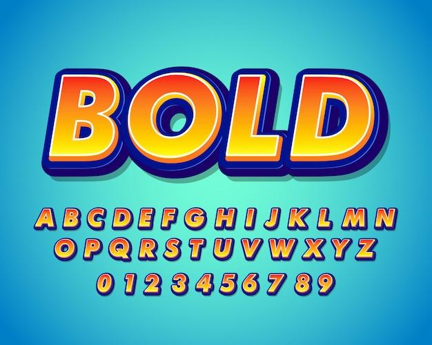 Strong bold modern font effect