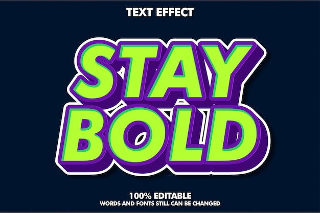 Strong bold retro pop art text effect for old style banner