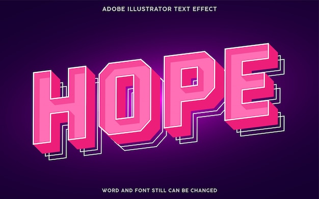 Strong bold text effect with pink color