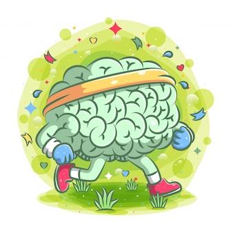強い脳の漫画はイラストのトレーニングを行います