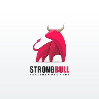 Strong bull illustration vector template