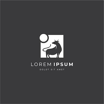 Сильный бык логотип в современном стиле
