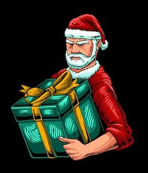 Сильная рождественская иллюстрация санта