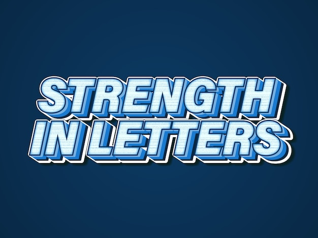 Strong classic blue editable font effect