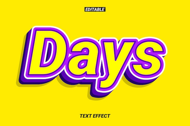 Strong and contrast purple text effect
