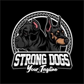 강한 개 로고
