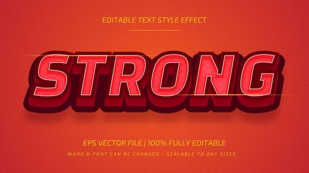 Сильный редактируемый эффект стиля текста вектора 3d. редактируемый стиль текста иллюстратора.