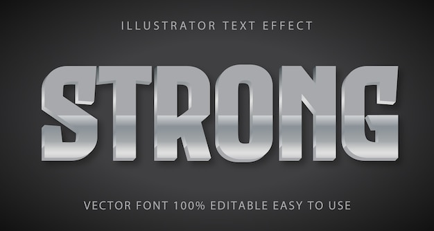 Strong  editable text effect