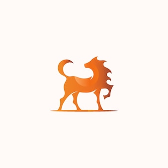 Strong and elegant beautiful horse symbol mascot logo