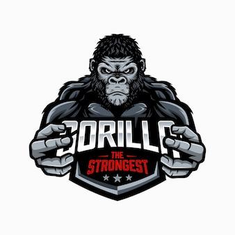 Strong gorilla illustration