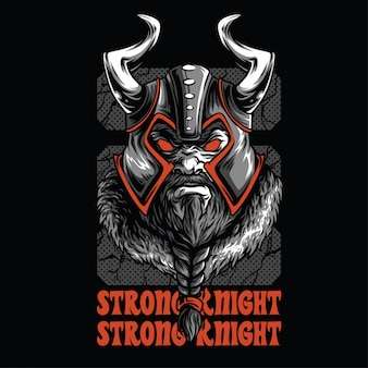 Strong knight illustration