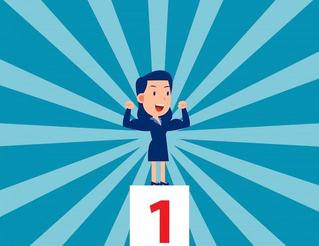 Сильный лидер. бизнес победитель и успешный