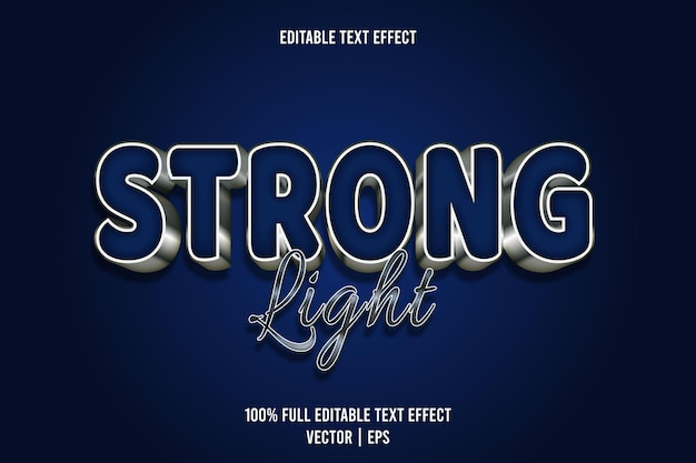 Strong light editable text effect 3 dimension emboss luxury style