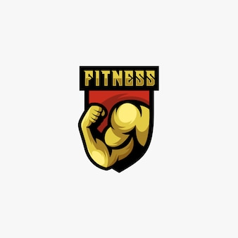 Strong man fitness logo.