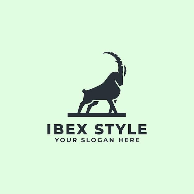 強い山羊またはアイベックスのロゴのマスコット