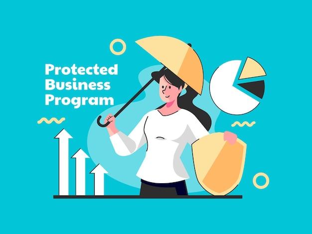 Сильная концепция защищенной деловой программы