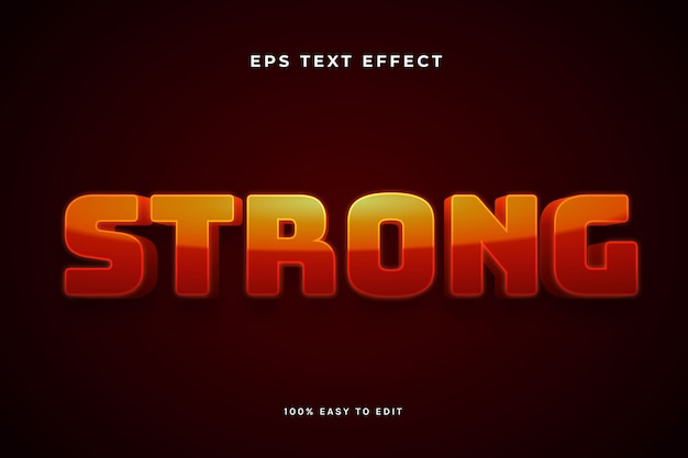 Strong red 3d text effect