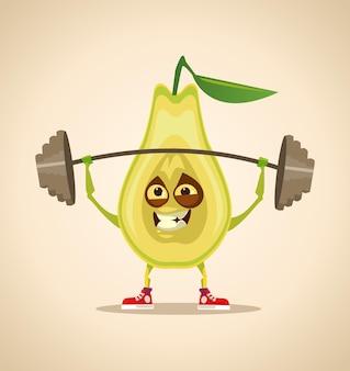 강한 스포츠 배 스쿼트 및 운동