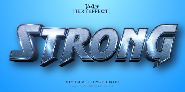 Strong text, cartoon style editable text effect