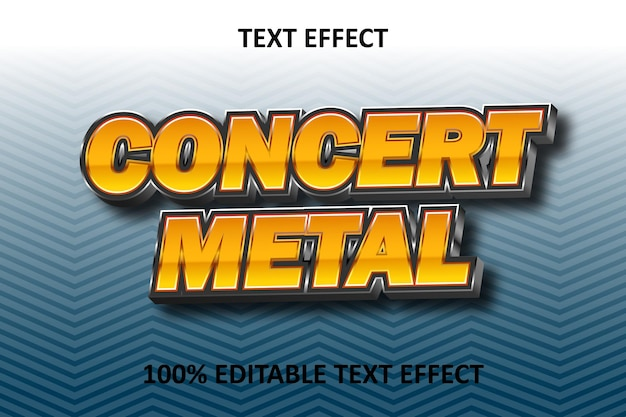 Strong text editable text effect orange silver