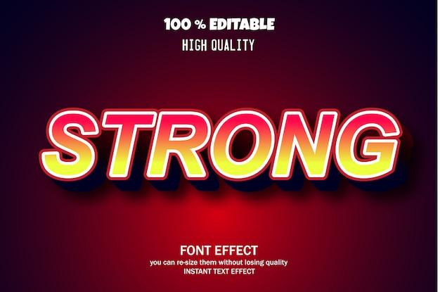 강력한 텍스트 스타일, 편집 가능한 글꼴 효과