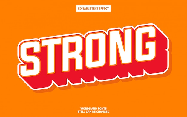 Strong text style effect