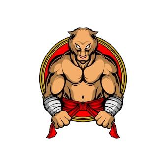 強い虎のロゴ